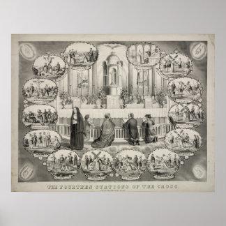 Las catorce estaciones de la cruz de J.L. Giles Póster