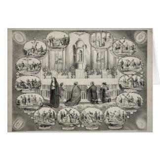 Las catorce estaciones de la cruz de J.L. Giles Tarjeta De Felicitación