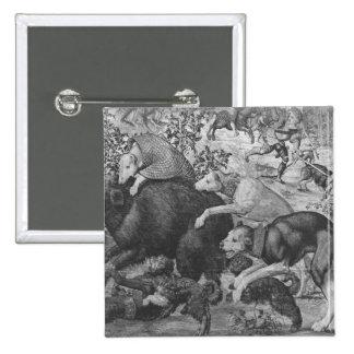 Las cazas de Maximiliano, Capricornio Pin Cuadrada 5 Cm