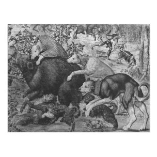 Las cazas de Maximiliano Capricornio Tarjetas Postales