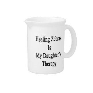 Las cebras curativas son la terapia de mi hija jarra