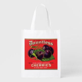 las cerezas impávidas de los años 30 en jarabe bolsas de la compra