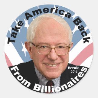 Las chorreadoras de Bernie retiran al pegatina de
