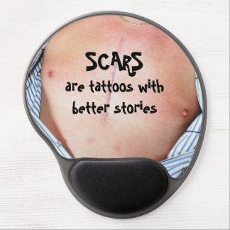 Las cicatrices son tatuajes con mejores historias alfombrilla con gel