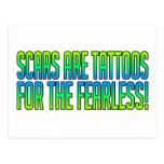 Las cicatrices son tatuajes tarjeta postal