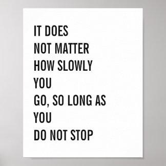 Las citas de motivación Confucio famoso citan 8x10 Póster