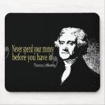 Las citas de Thomas Jefferson nunca pasan el diner Alfombrilla De Ratones