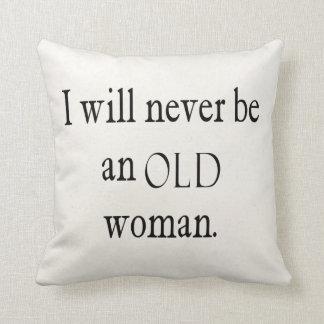 Las citas del vintage nunca seré una cita de la mu almohada