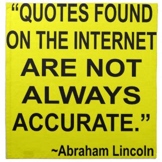 Las citas encontradas en el Internet no son siempr Servilleta De Papel