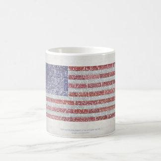 Las citas señalan por medio de una bandera para un taza de café