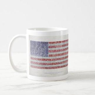 Las citas señalan por medio de una bandera para un taza