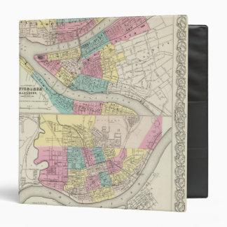 """Las ciudades de Pittsburgh Allegheny Cincinnati Carpeta 1 1/2"""""""