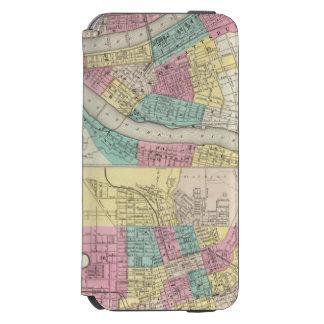 Las ciudades de Pittsburgh Allegheny Cincinnati Funda Billetera Para iPhone 6 Watson