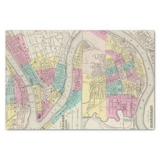 Las ciudades de Pittsburgh Allegheny Cincinnati Papel De Seda Pequeño