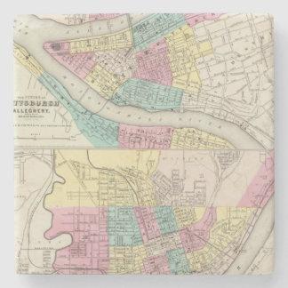 Las ciudades de Pittsburgh Allegheny Cincinnati Posavasos De Piedra
