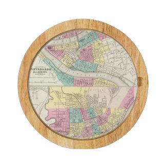 Las ciudades de Pittsburgh Allegheny Cincinnati