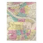 Las ciudades de Pittsburgh Allegheny Cincinnati Postales