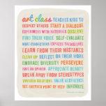 Las clases de arte enseñan los niños a //24 x el p impresiones