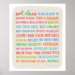 Las clases de arte enseñan los niños al poster de