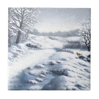 Las colinas están vivas con nieve azulejo cuadrado pequeño