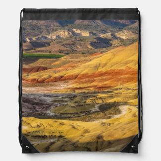 Las colinas pintadas en las camas fósiles 3 del mochila