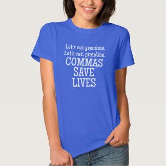 Las comas ahorran vidas polera