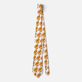 Las comidas del vintage, dan fruto los naranjas corbata personalizada