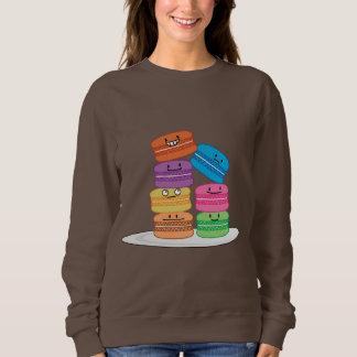 Las comidas felices de los macarrones de los polera