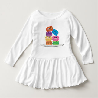 Las comidas felices de los macarrones de los vestido con volantes para niñas