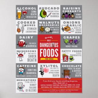 Las comidas más peligrosas del mundo para los perr póster