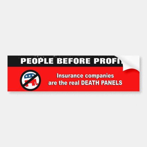 Las compañías de seguros son los paneles reales de etiqueta de parachoque