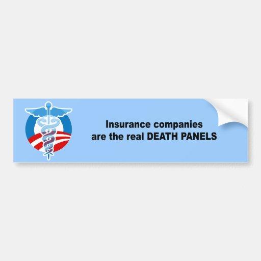 Las compañías de seguros son los paneles reales de pegatina de parachoque