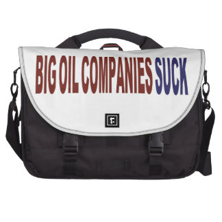 Las compañías petroleras grandes chupan bolsas para portátil