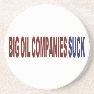 Las compañías petroleras grandes chupan posavasos cerveza
