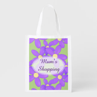 Las compras de madres del día de la momia púrpura bolsa para la compra