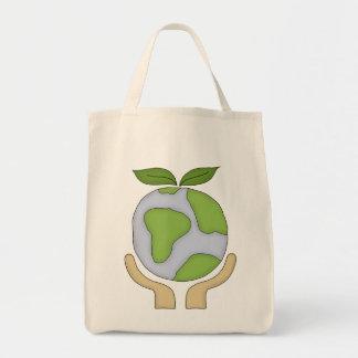 Las compras orgánicas Tote-Van ambiente verde