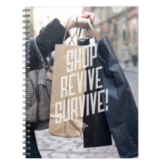 Las compras son cuaderno inspirado sano de la foto