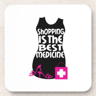 Las compras son la mejor medicina posavasos de bebida