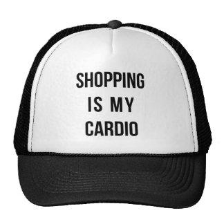 Las compras son mi cardiias en blanco gorra