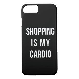 Las compras son mi cardiias en negro funda iPhone 7
