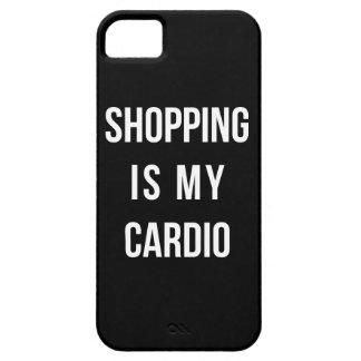 Las compras son mi cardiias en negro funda para iPhone SE/5/5s