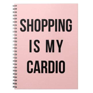 Las compras son mi cardiias en rosa libreta espiral
