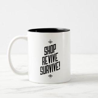 Las compras son taza inspirada sana