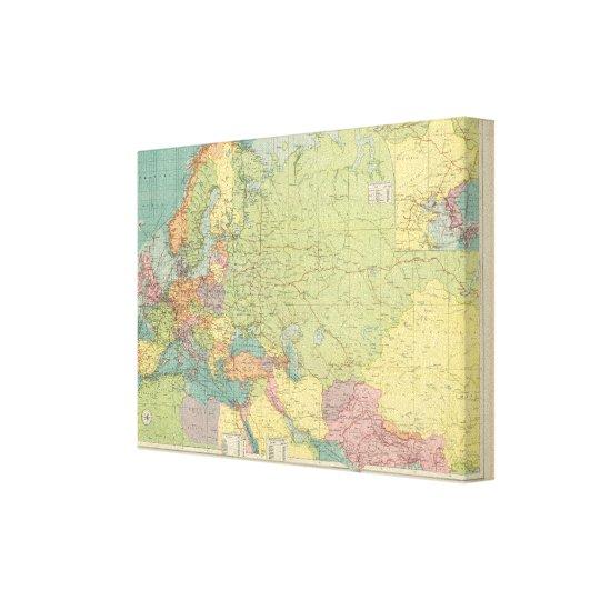 Las comunicaciones de Europa terrestre, mar Impresión En Lienzo