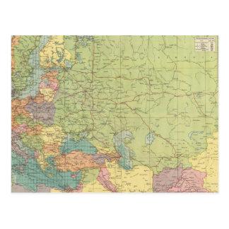 Las comunicaciones de Europa terrestre, mar Postal