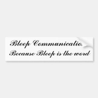 Las comunicaciones de la señal, señal son la pegatina para auto