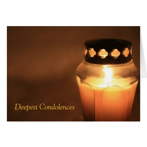Las condolencias más profundas tarjeta pequeña
