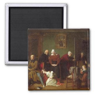Las consecuencias de la seducción, 1824 imán cuadrado