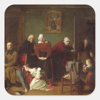 Las consecuencias de la seducción, 1824 calcomania cuadrada personalizada