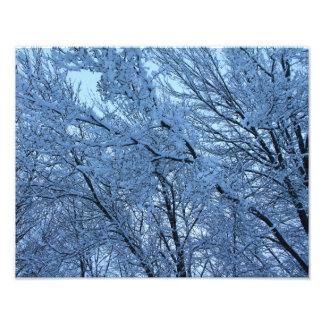 Las consecuencias de una tormenta del invierno fotografías